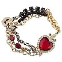 Disney Villains Crystal Evil Queen's Heart Box Snow White Bracelet by Disney Couture | Disney Store