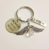 Remembrance Keychain - Memorial, Sympathy Gift, Personalized