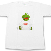SUPREME (shupurimu) Kermit The Frog T shirt WHITE