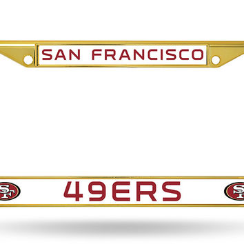 49ERS COLORED CHROME FRAME SECONDARY GOLD