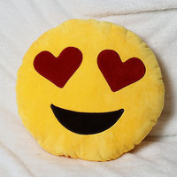 Yellow Love Emoji Pillow