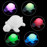 Cute Off White Multi-Color Change LED Light Turtle Mood Lamp Night Glow  Christmas Decor Ornaments