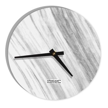 "White Marble Pattern 8"" Round Wall Clock  All Over Print by TooLoud"