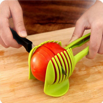 Handheld Creative Kitchen Fruit And Vegetable Slicer Orange Lemon Cutter Cake Clip Multi-function Kitchen Tool
