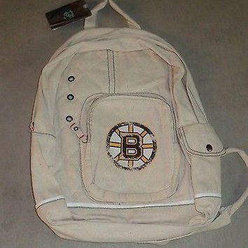 NHL Boston Bruins Backpack Bag Distressed Style School Gym FREESHIP