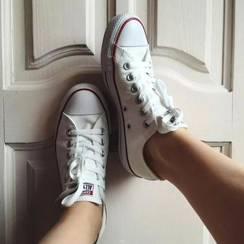 Women With Men Converse Fashion Canvas Flats Sneakers Sport Shoes