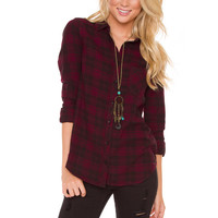 Rome Plaid Top