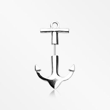 A Pair of Classic Anchor Fake Taper Earring