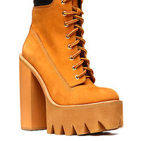 Jeffrey Campbell The HBIC Boot in Wheat NubuckExclusive