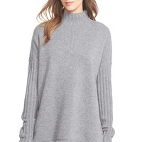Women's Tory Burch Oversize Mock Neck Merino Sweater,
