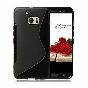 Soft Silicone TPU S line Back Cover Case For HTC Desire 526 526G dual sim 526G+ 610 620 One A9 M9 Phone Protective Cases