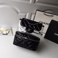 Double C Black/clear Quilted Backpack
