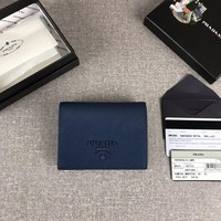 Kuyou Prada Gb19710 1mv204 Blue Small Saffiano Leather Wallet 11.2cm*8.5cm
