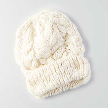 AEO Cable Knit Beanie , Cream