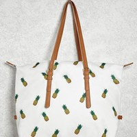Pineapple Print Duffle Bag