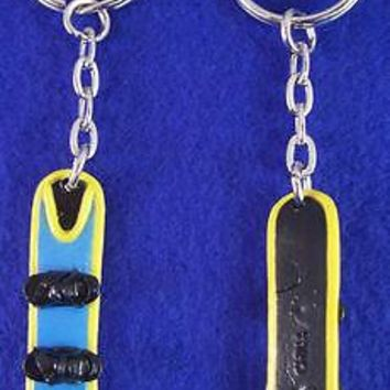 2 NEW RETIRED EXTREME SPORT X GAMES BLUE SNOWBOARD KEYCHAIN BACKPACK ZIPPER PULL