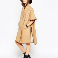 ASOS Cape With Funnel Neck