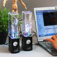 Atake Music Fountain Mini Amplifier Dancing Water Speakers I-station7 Apple Speakers [Black]