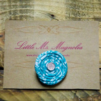 "Turquoise Hair Clip, Little Girls, Toddler Girl, Teen Girl, ""Round and Round We Go"", Hair Accessories"