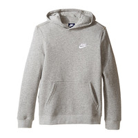 Nike Kids Sportswear Pullover Hoodie (Little Kids/Big Kids) Dark Grey Heather/Dark Grey Heather/White - Zappos.com Free Shipping BOTH Ways