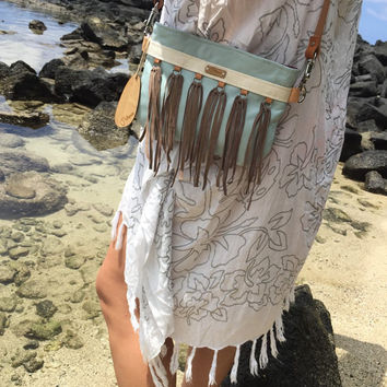 Custom Handmade Fringe Cross Body Bag/Leather Fringe Bag/Shoulder Bag/ Leather Accessories/Made To Order/One Of A Kind