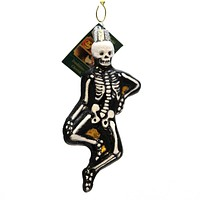 Old World Christmas Mr Bones Halloween Glass Ornament