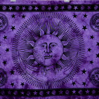 Twin Tie Dye Psychedelic tapestry sun moon tapestry hippie wall hanging bohemian bedding throw indian bedspread ethnic home decor BeachSheet