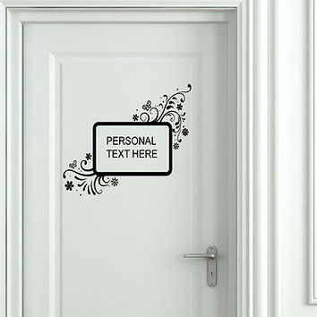 Wall Mural Vinyl Decal Sticker Sign Door Frame Personalized Text Name AL284