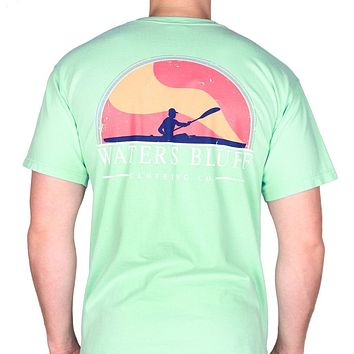 Paddler Tee Shirt in Island Reef Green by Waters Bluff