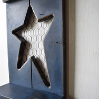 Primitive Star Wall Decor Shelf