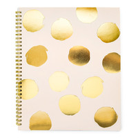 Large Polka Dot Notebook, Pink