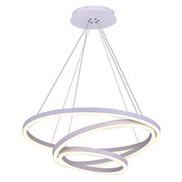 Royal Pearl Modern Circular Acrylic Chandelier Lighting Tania Trio Collection Contemporary Ceiling Pendant Light White Finish