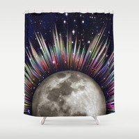 Moonrise Shower Curtain by Inspired Images