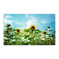 "Sylvia Cook ""Sunflower Field"" Blue Green Aluminum Magnet"