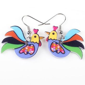 Drop Chicken Earrings Acrylic Big LongDangle Earrings News Brand Girls Women Jewelry Accessories Fashion Styles