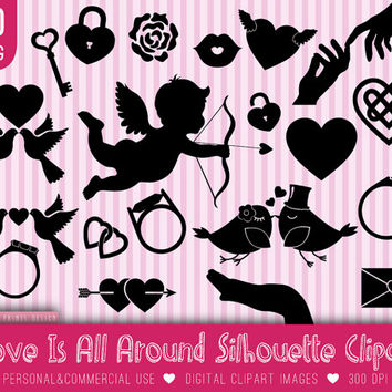 20 Wedding Love clip art, love wedding clipart clip art, wedding, love wedding silhouette, invitation, rings heart cupid clipart, love birds