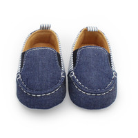Casual Toddlers Boys Girls First Walkers Denim Striped Shoes Infant Baby Shoes 0-12M X16