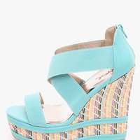 MINT Sun is Up Wedge Sandals | $10.00 | Cheap Trendy Wedges Chic Discount Fashion for Women | ModDe