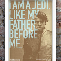 Star Wars Inspired Print (Heroes Series: LUKE SKYWALKER) A3