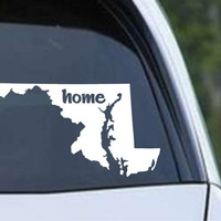 Maryland Home State MD - USA America Die Cut Vinyl Decal Sticker