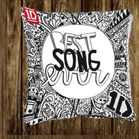 "1D-Best-Song-Ever cover - Pillow Covers - Decorative Pillows - 18x18"" Pilow - 20x30"" Pillow"