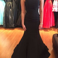 Black Sleeveless Mermaid Prom Dresses