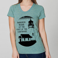Cool Lighthouse Hipster Tshirt Cool American by EnlightenedState