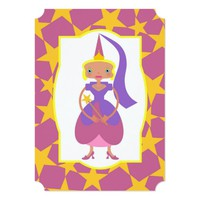 Pink Fairy with Magic Wand Invitation