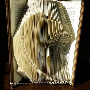 SALE! Feather - Folded Book Art - Book Sculpture Paper Art Origami READY TO Ship