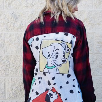 Dalmatians Reworked Flannel