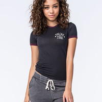Volcom Native Womens Ringer Tee Black Combo  In Sizes