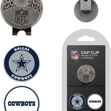 NFL Dallas Cowboys Hat Clip & 2 Magnetic Golf Ball Markers