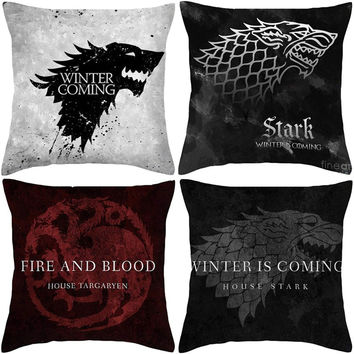Game of Thrones Style Cushion TV 100% Polyester House Logo Cushion Home Decorative Throw Pillow Sofa Chair Car Cojines