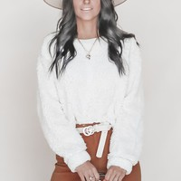 Fireside Cream Faux Fur Dolman Top
